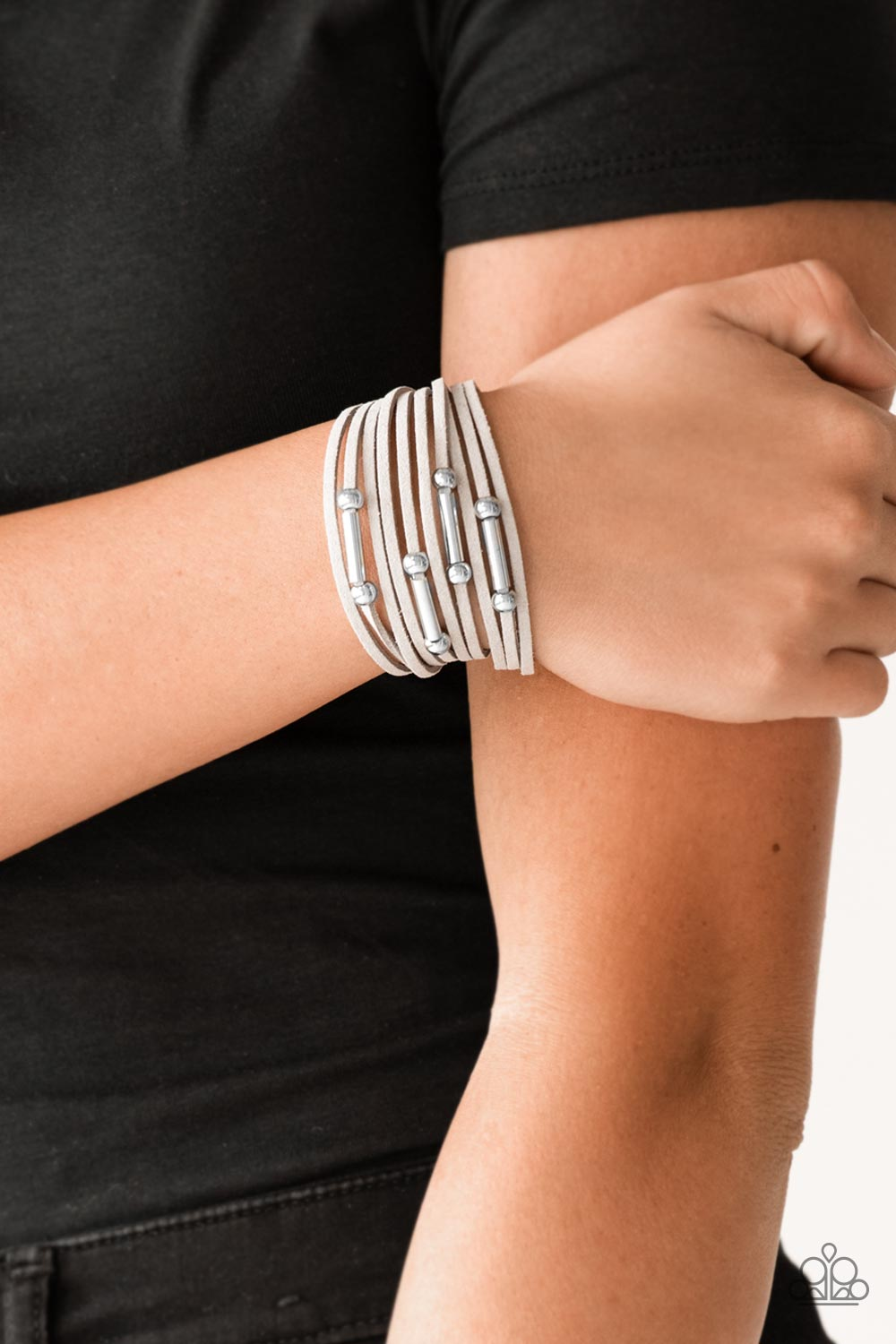 Paparazzi Back To BACKPACKER - Silver Urban Bracelet