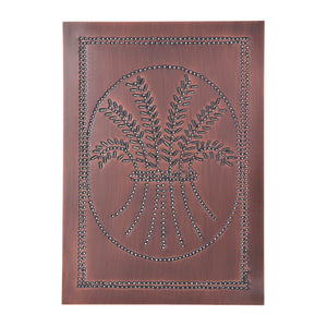 Vertical Wheat Panel in Solid Copper