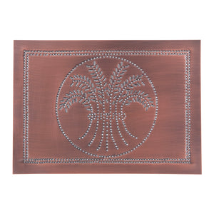 Horizontal Wheat Panel in Solid Copper