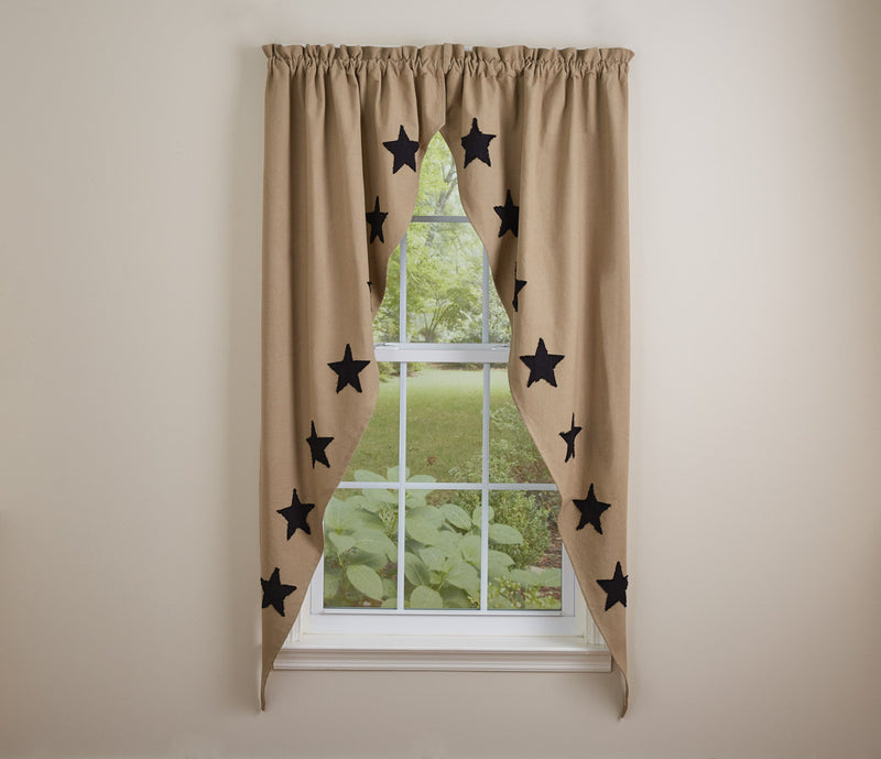 Taupe & Star Romantic Swag - Black