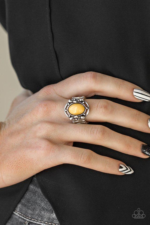 Paparazzi Color Me Confident - Yellow Ring