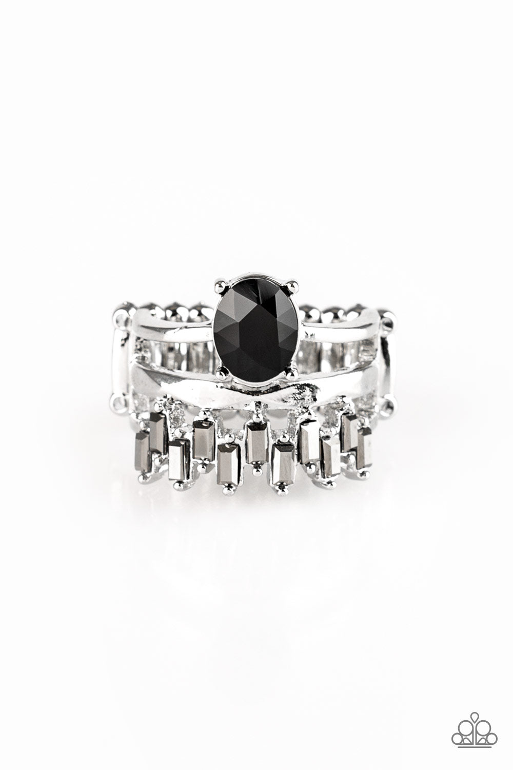 Paparazzi Crowned Victor - Black Ring