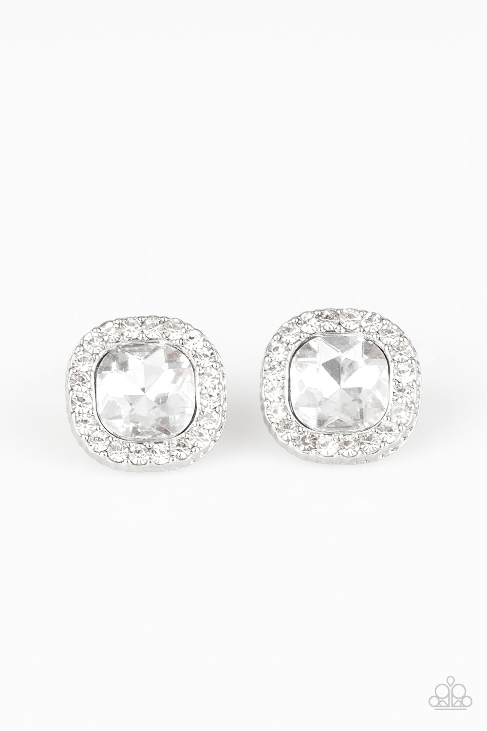 Paparazzi Bling Tastic! - White Earrings