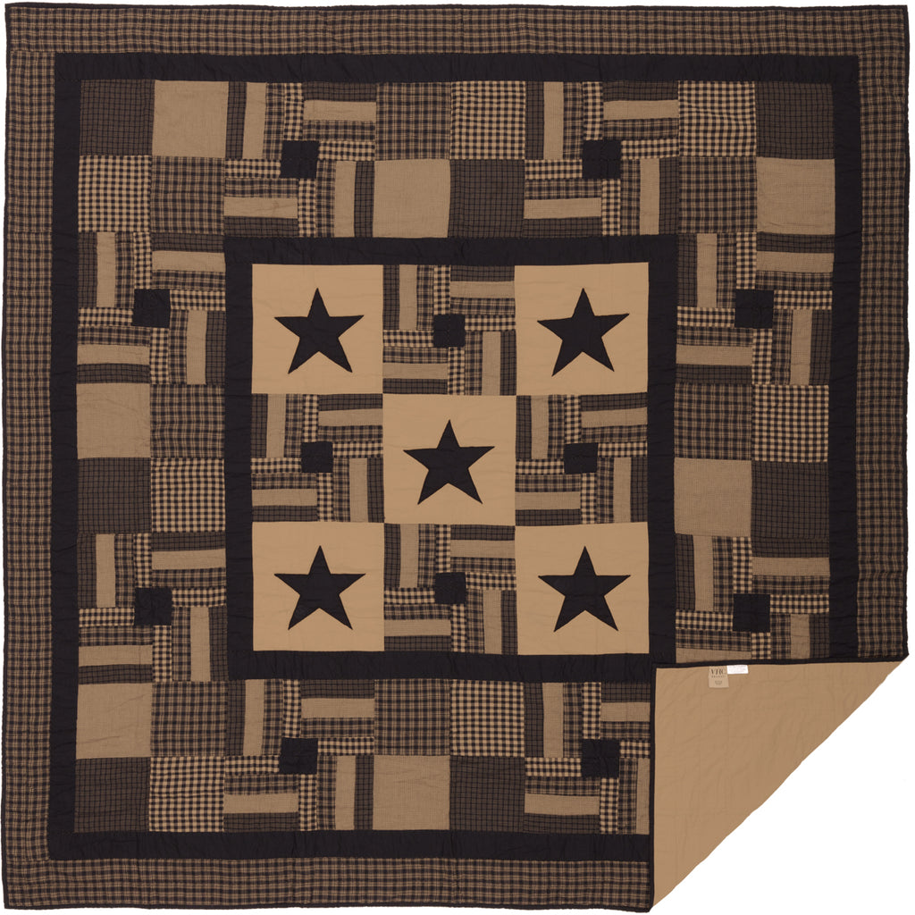 Black Check Star Quilted Collection QUILT