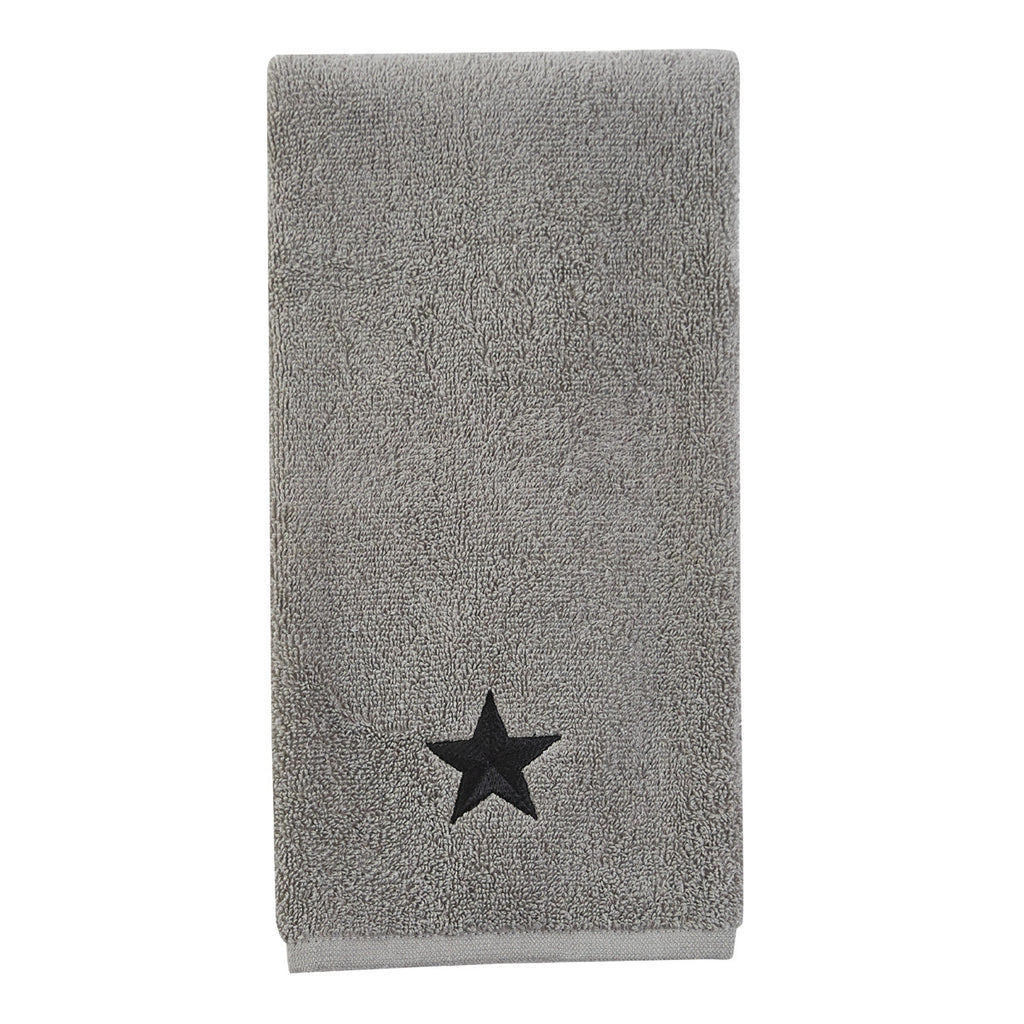Hand Towel ~ Grey with Black Stars