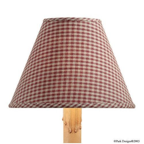 Lamp Shade ~ York Mini Check Wine