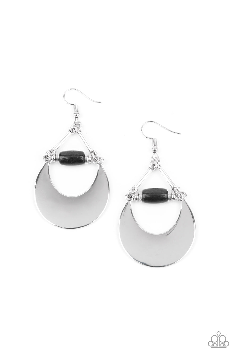 Paparazzi Mystical Moonbeams - Black Earrings