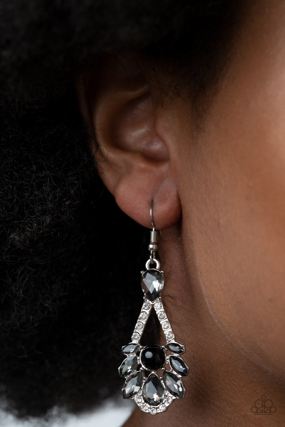 Paparazzi Prismatic Presence - Black Earrings