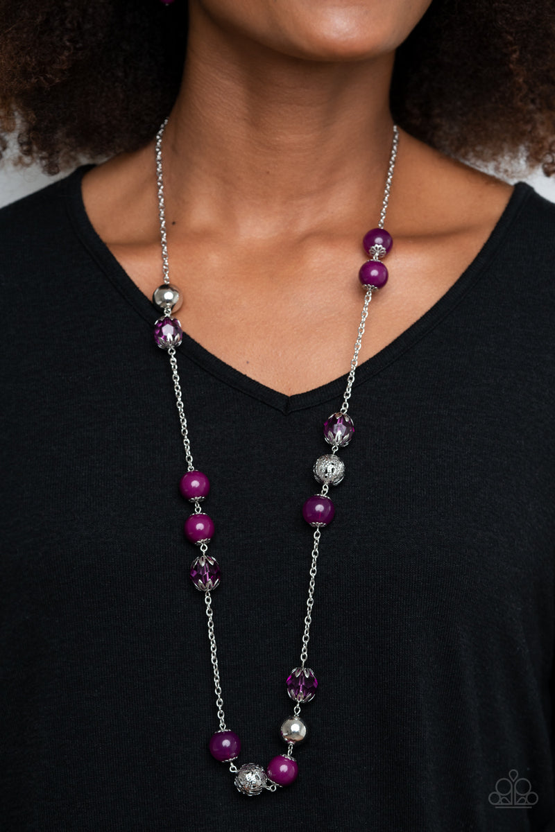 Paparazzi Fruity Fashion - Purple Necklace