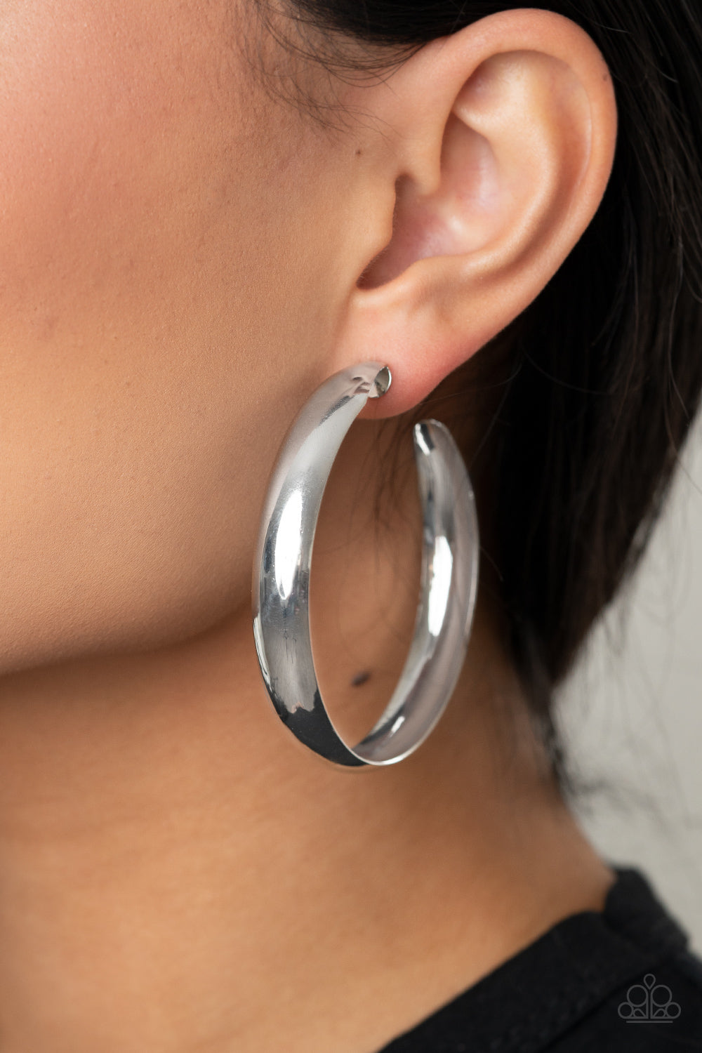 Paparazzi BEVEL In It - Silver Earrings
