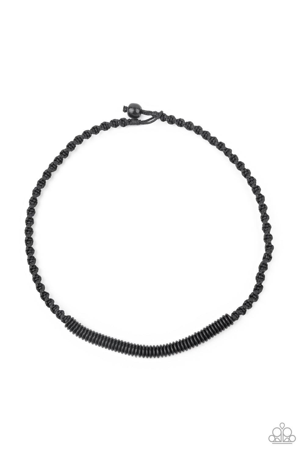 Paparazzi Plainly Primal - Black Necklace