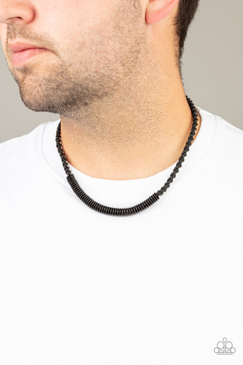 Paparazzi Plainly Primal - Black Urban Necklace