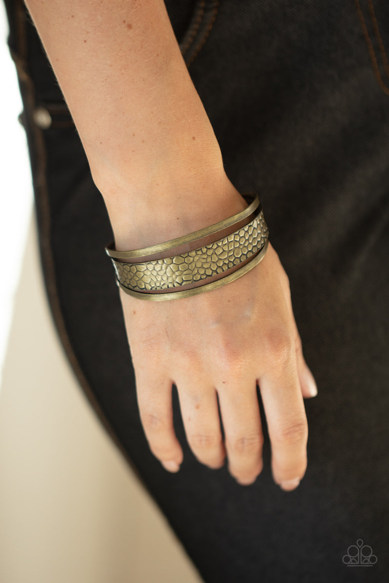 Paparazzi Jungle Jingle - Brass Bracelet
