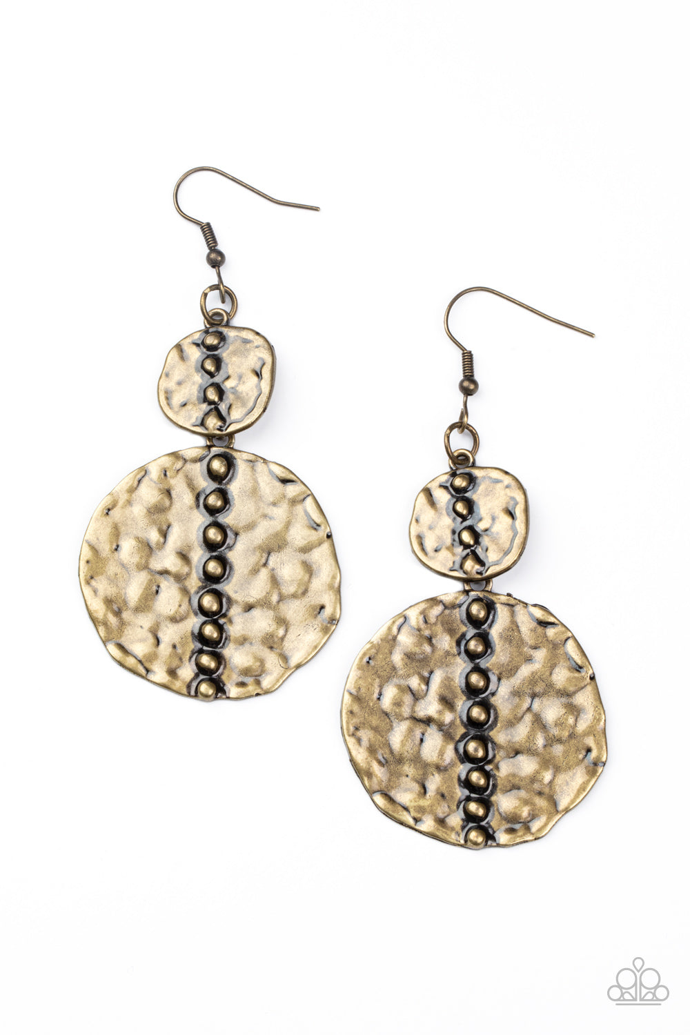 Paparazzi Metro Metalhead - Brass Earrings