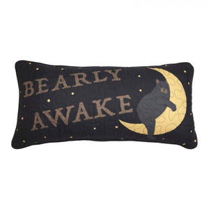 Donna Sharp Evening Lodge Bearly Awake Pillow Front View