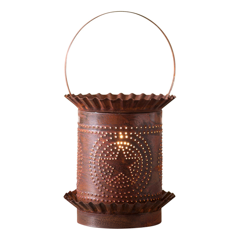 Jumbo Wax Warmer with Regular Star in Rustic Tin