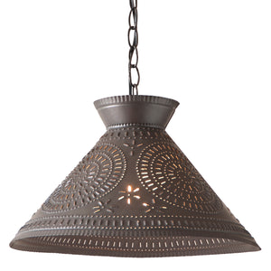 Roosevelt Shade Light with Chisel in Kettle Black