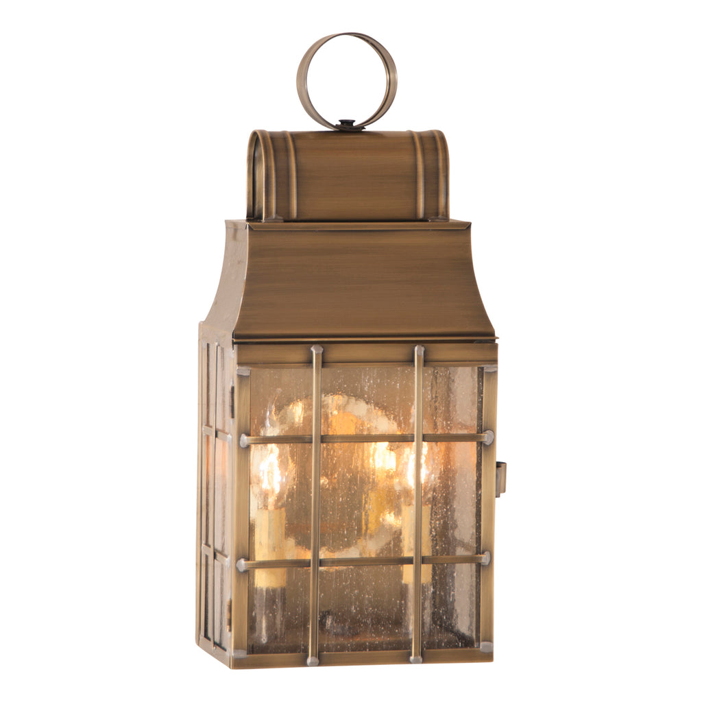 Washington Wall Lantern in Weathered Brass