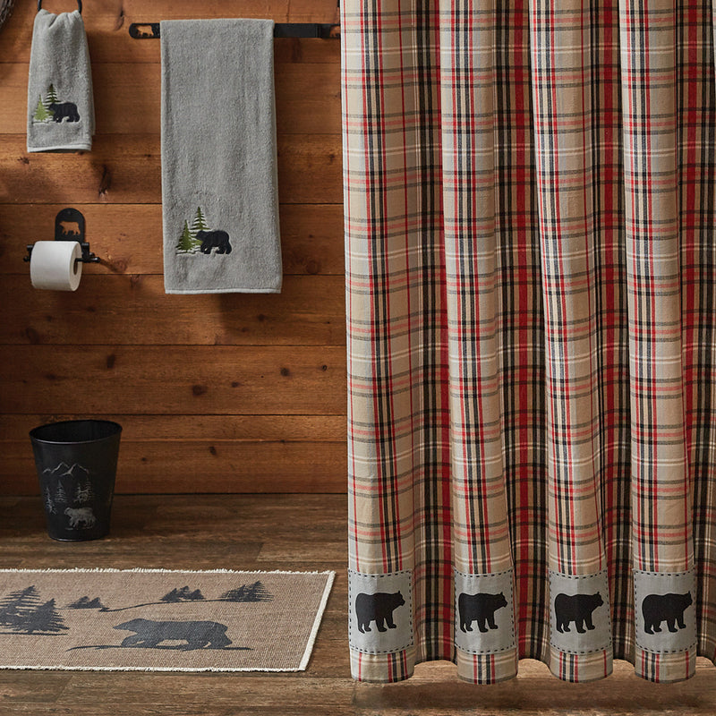 Shower Curtain - Bear Country Plaid