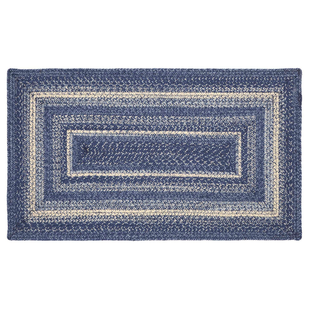 Great Falls Blue Jute Rug Rect w/ Pad 27x48
