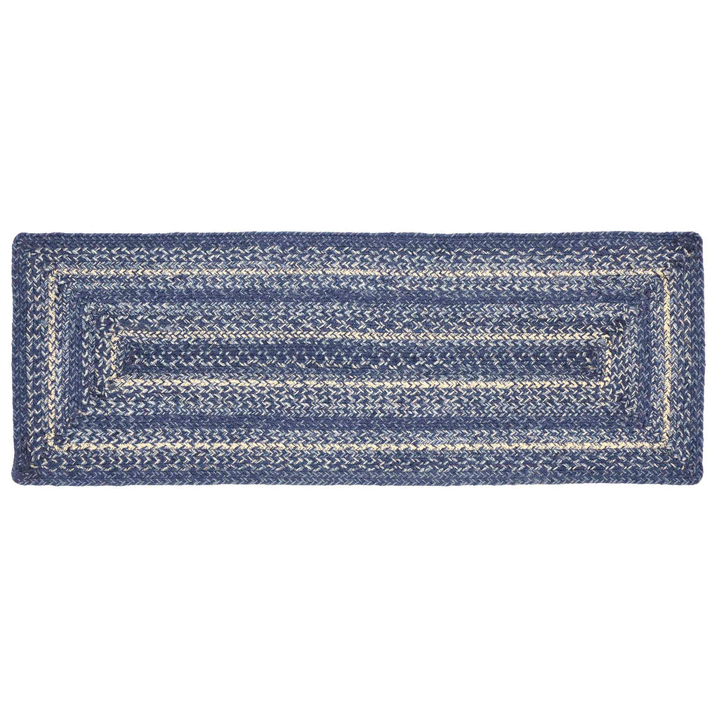 Great Falls Blue Jute Rect Runner 13x36