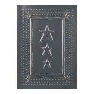 Embossed Star Panel in Country Tin