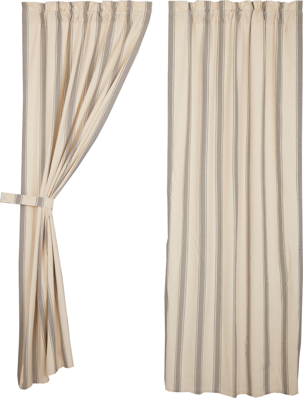 Grace Grain Sack Stripe Panel Set of 2 84x40