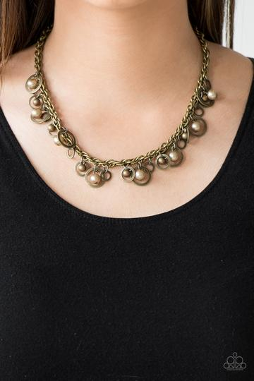 Paparazzi Shipwrecked Style - Brass Necklace