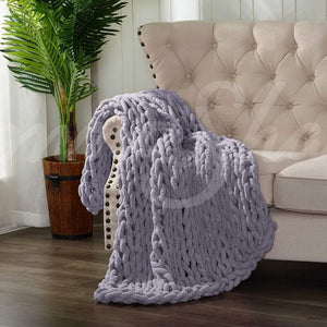 Chenille Chunky Knit Throw ~ Peri