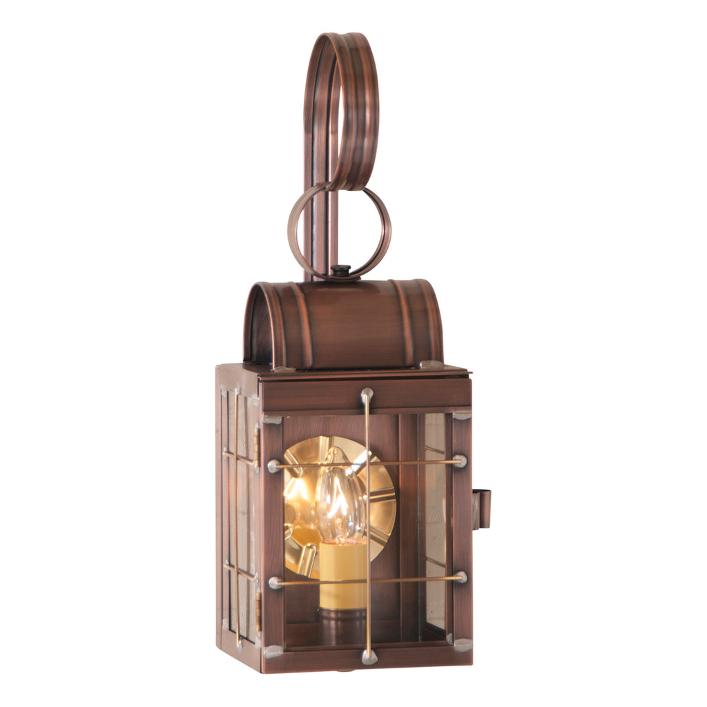 Single Wall Lantern in Antique Copper