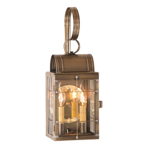 Double Wall Lantern in Weathered Brass