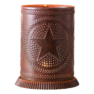 Candle Warmer with Regular Star in Rustic Tin