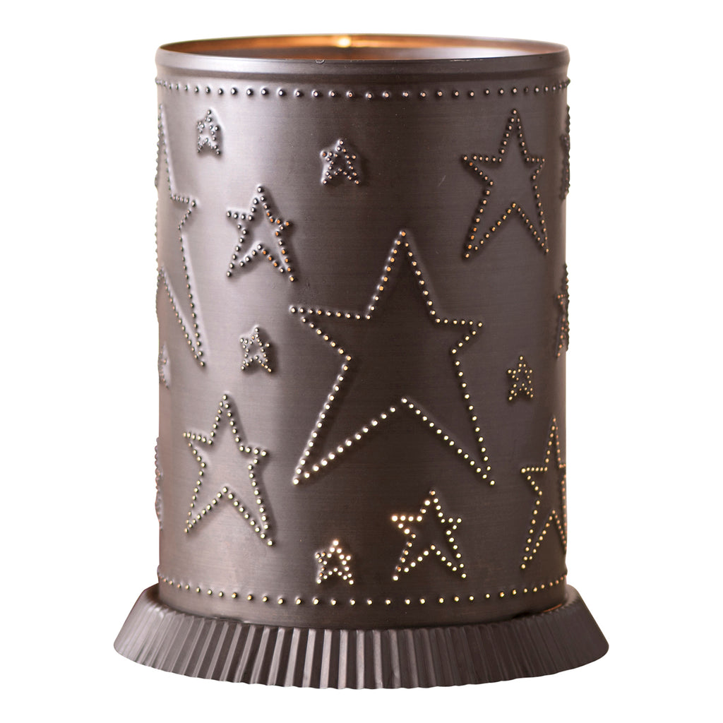 Candle Warmer with Country Star in Kettle Black