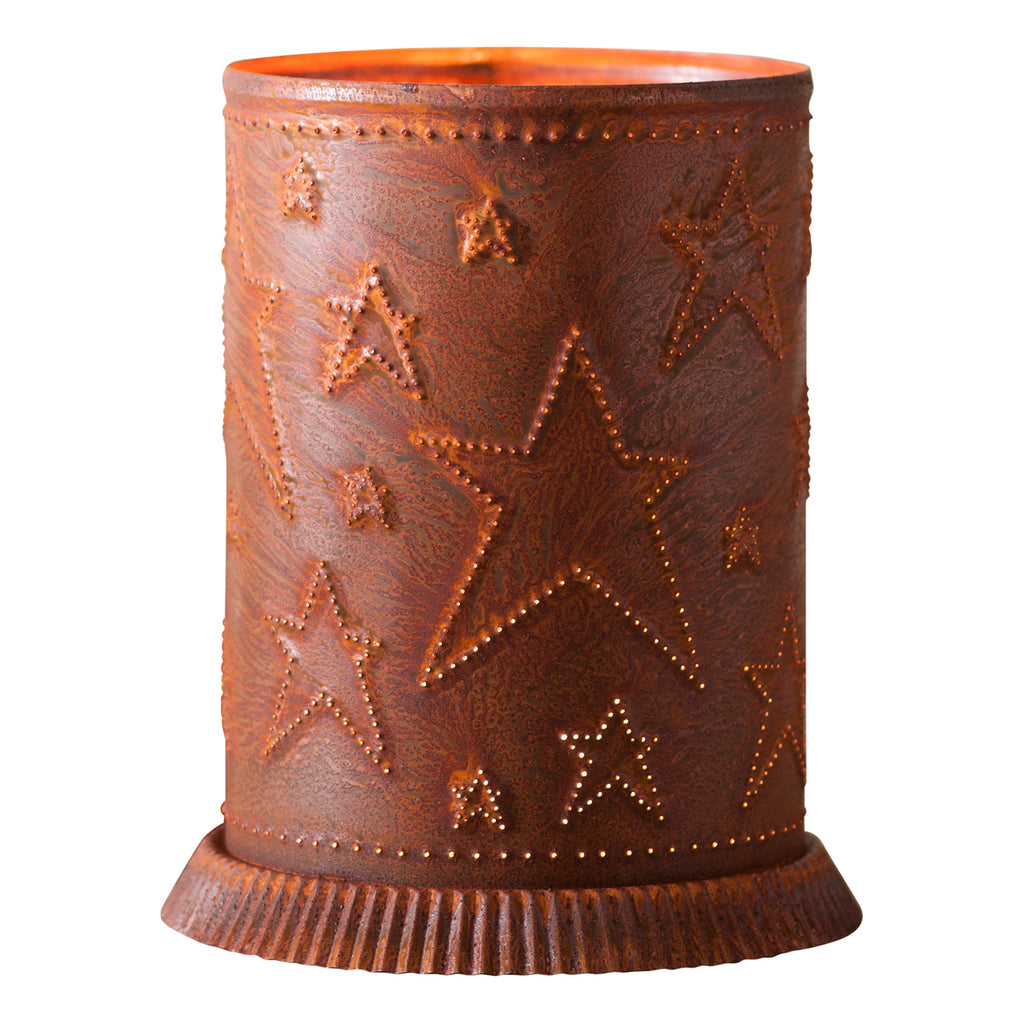 Candle Warmer with Country Star in Rustic Tin