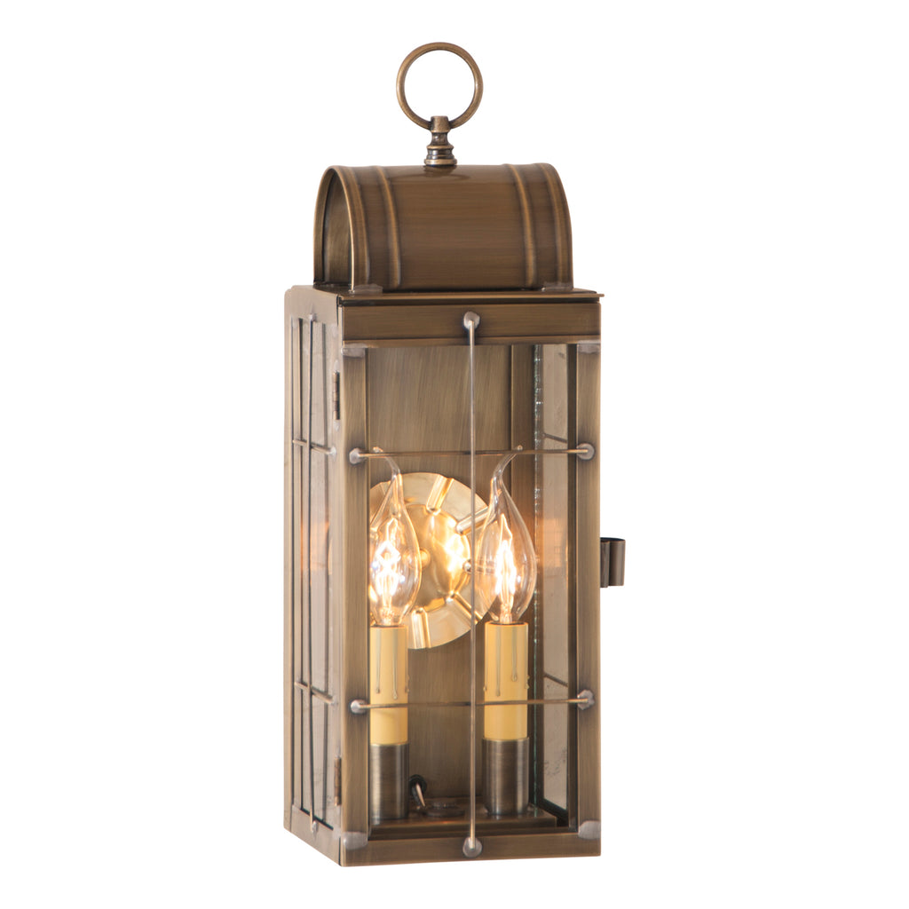 Queen Arch Lantern in Weathered Brass