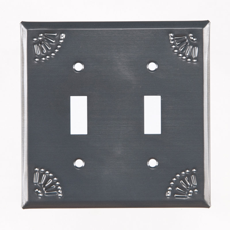Double Switch Cover with Chisel in Country Tin