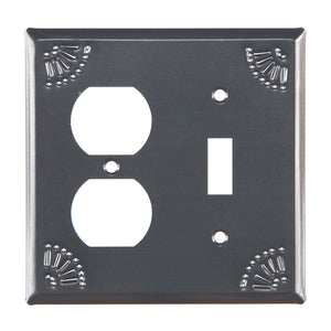 Outlet and Switch Cover with Chisel in Country Tin