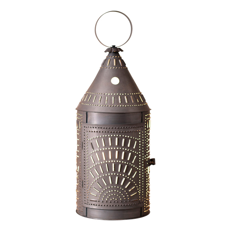27-Inch Blacksmith's Lantern with Chisel in Blackened Tin