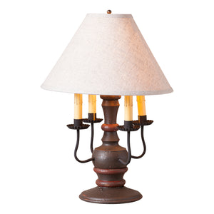 Cedar Creek Lamp in Americana Espresso with Linen Ivory Shade