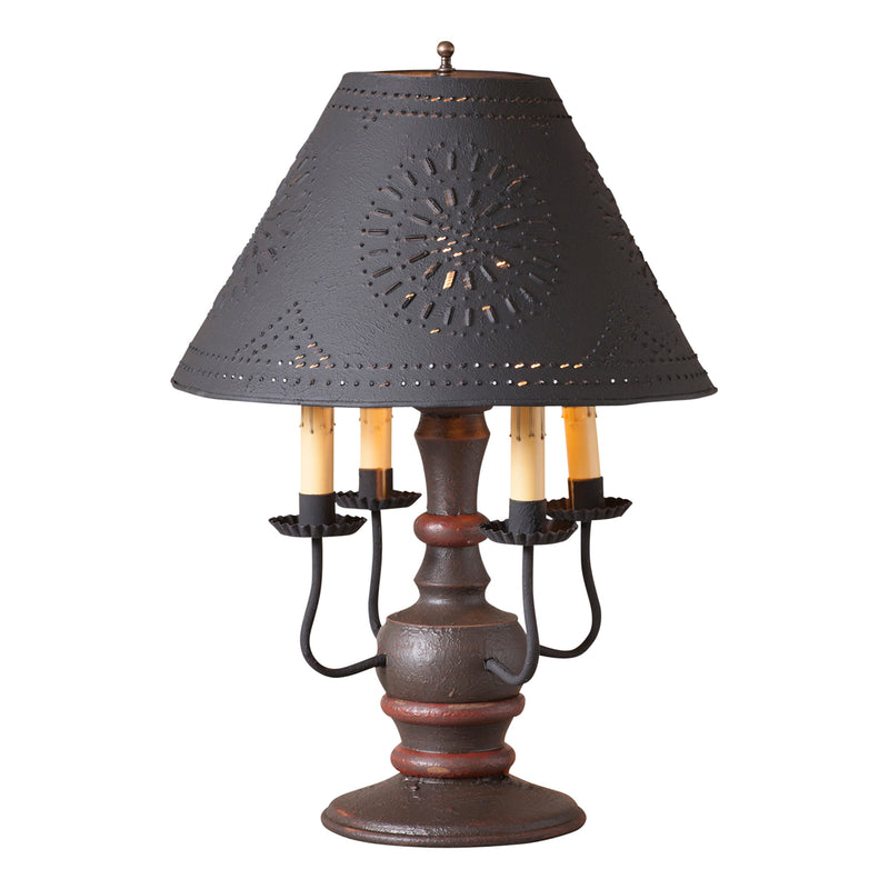 Cedar Creek Lamp in Americana Espresso with Textured Black Tin Shade