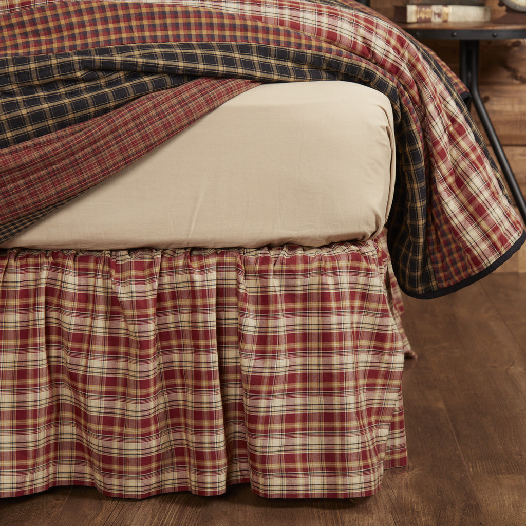 Beckham Plaid King Bed Skirt 78x80x16
