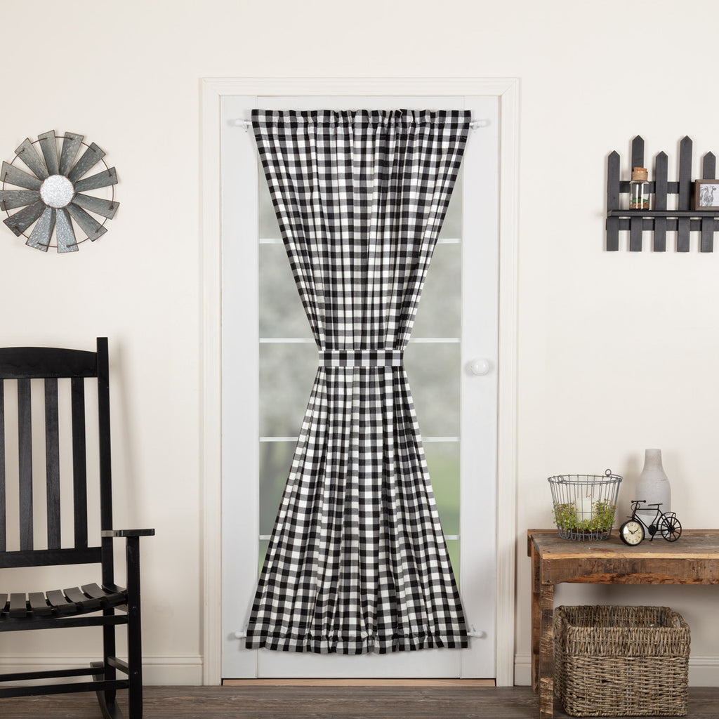 Annie Buffalo Black Check Door Panel 72x40