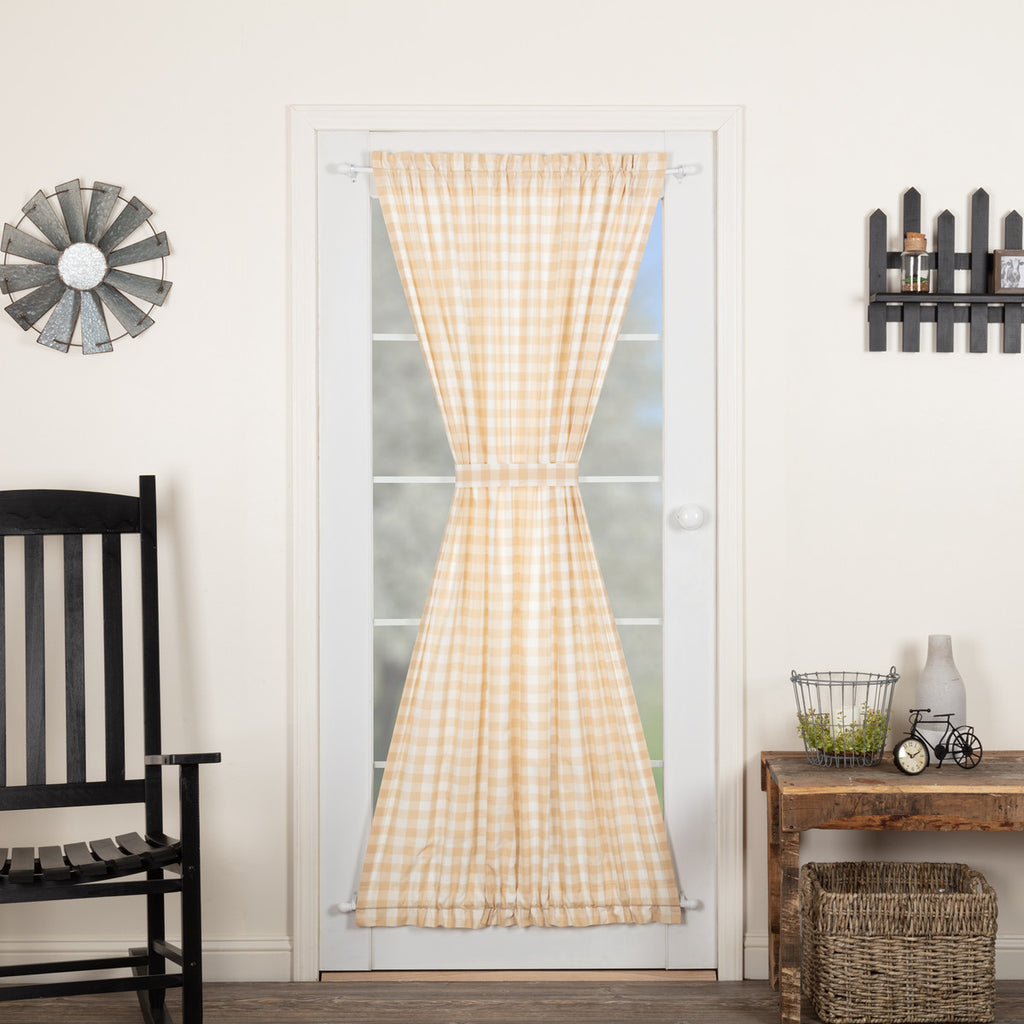 Annie Buffalo Tan Check Door Panel 72x40