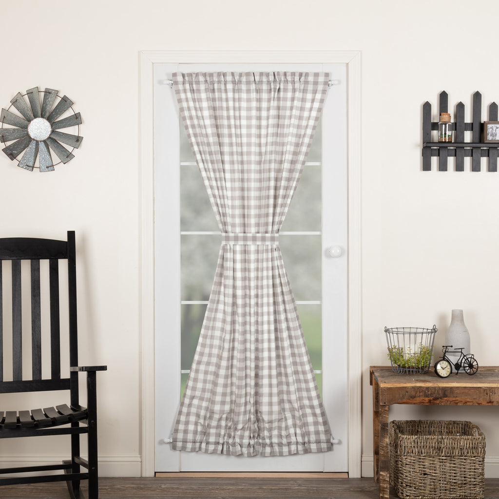 Annie Buffalo Grey Check Door Panel 72x40
