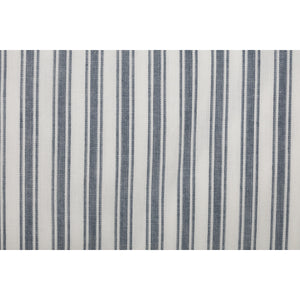 Sawyer Mill Blue Ticking Stripe Curtain 72x72 Close-Up