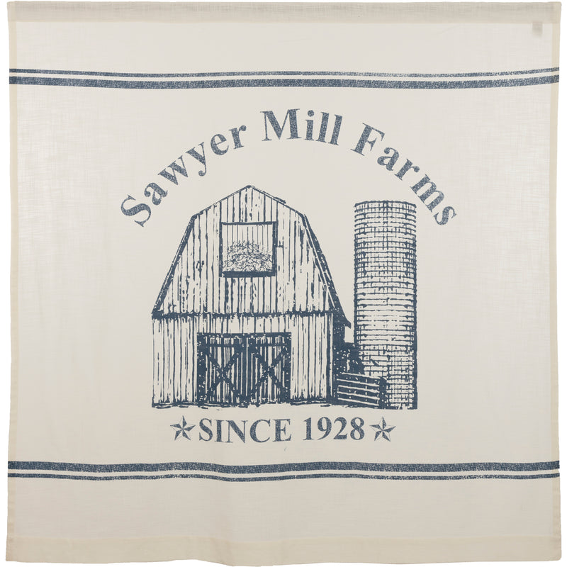 Sawyer Mill Blue Barn Shower Curtain 72x72