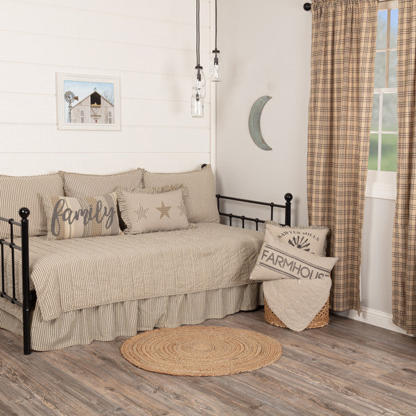 Sawyer Mill Charcoal Ticking Stripe 5pc Daybed Set
