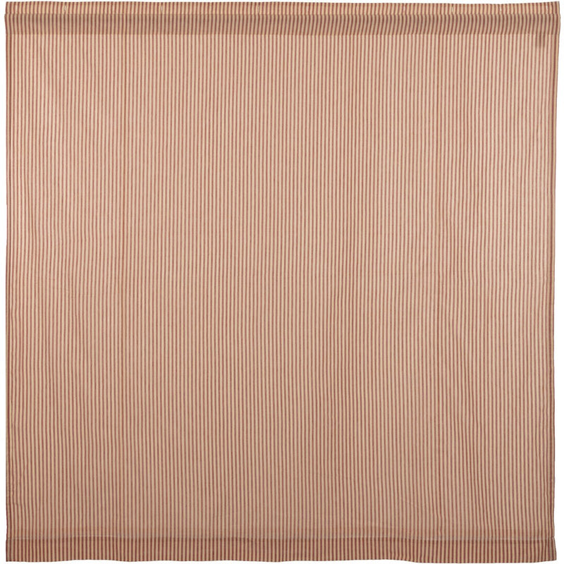 Sawyer Mill Red Ticking Stripe Curtain 72x72 Close-Up