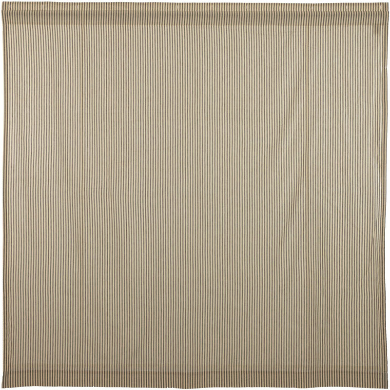 Sawyer Mill Charcoal Ticking Stripe Curtain 72x72