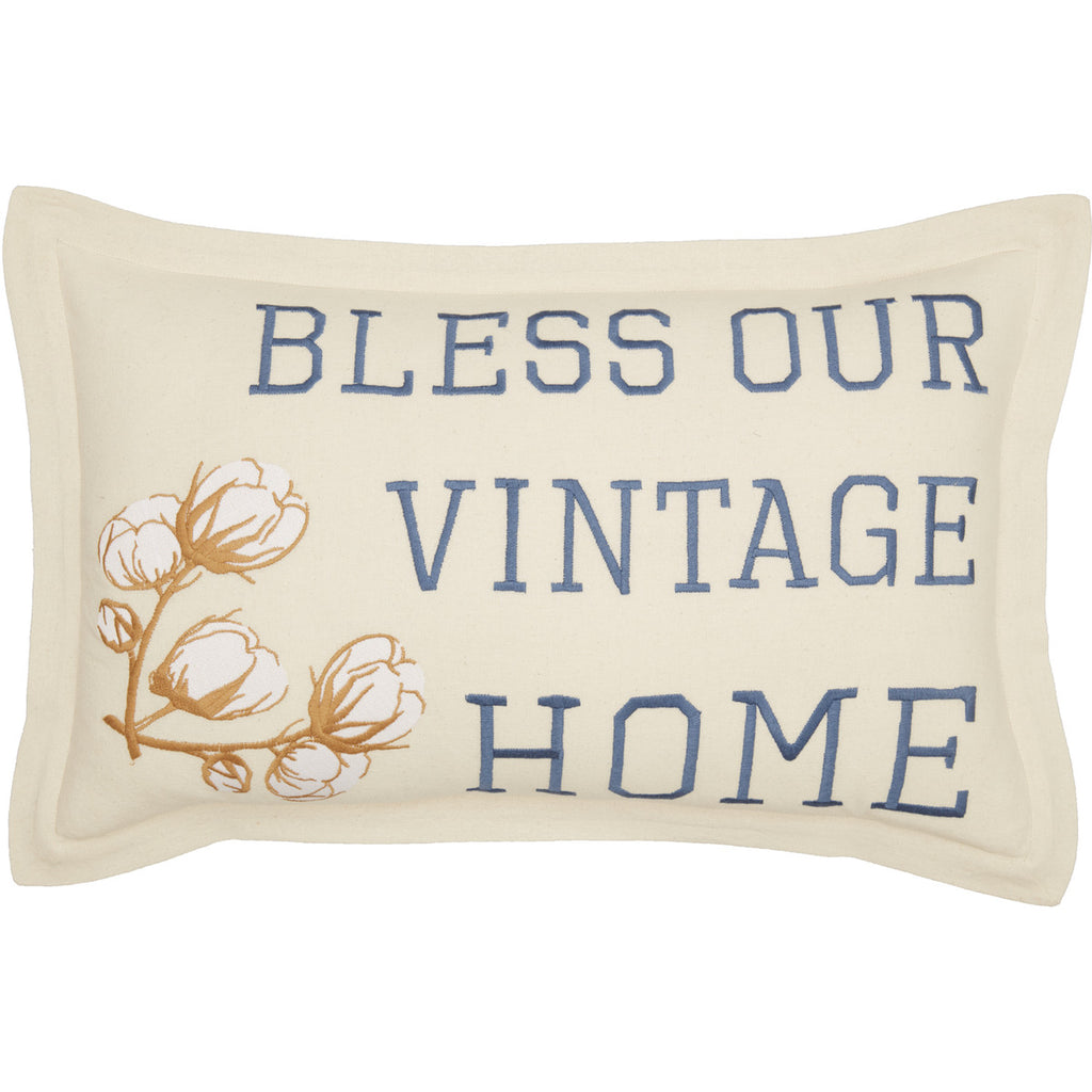 Ashmont Bless Our Vintage Home Pillow 14x22